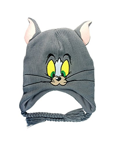 Tom and Jerry Tom Official Grey Beanie Hat