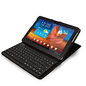 Sharon Thinnest Samsung Galaxy Tab 1 & 2 10.1 10.1N P7500 P7511 Case/Cover & Detachable Keyboard (QWERTY)
