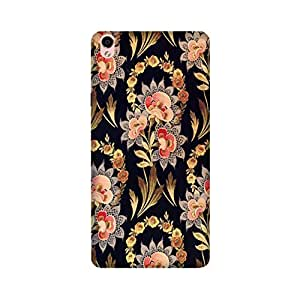 Oppo F1 Plus Perfect fit Matte finishing Vintage Floral Pattern Mobile Backcover designed by Aaranis (Purple) Perfect fit Matte finishing Vintage Floral Pattern Mobile Backcover designed by Aaranis (Black)