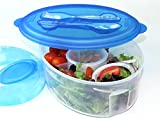 Fresh Salad On The Go by Frigidaire. BPA Free. For Kids or Adults, Work or School Lunches