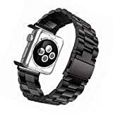 Apple-Watch-Band-42mm-Tevina-Stainless-Steel-Wrist-Bracelet-Clasp-with-Milled-Polishing-Shiny-Solid-Connector-Buckle-Strap-for-iWatch