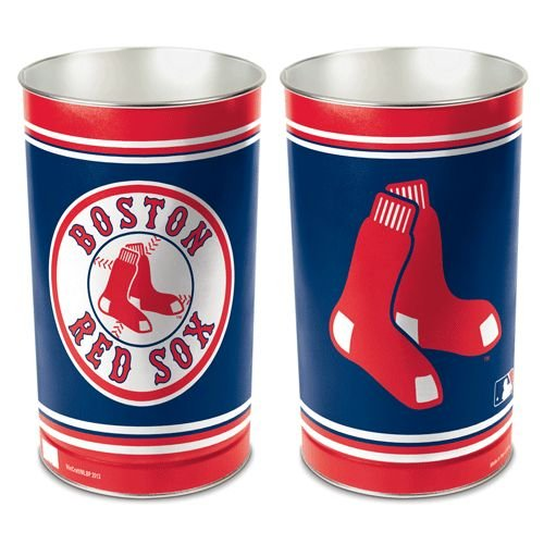 MLB Boston Red Sox Tapered Wastebasket, 15