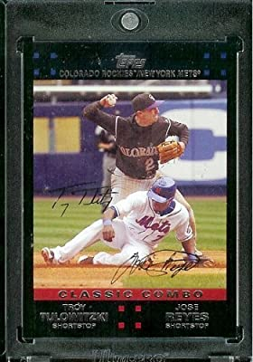 "2007 Topps Update # 277 Troy Tulowitzki / Jose Reyes ""Classic Combos"" - Colorado Rockies / New York Mets - MLB Baseball Card"