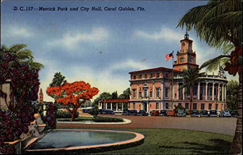 Merrick Park and City Hall in Coral Gables, Florida