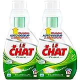 Le Chat L'Expert Bicarbonate Lessive Liquide Concentré avec Auto Doseur 850 ml / 25 Lavages - Lot de 2