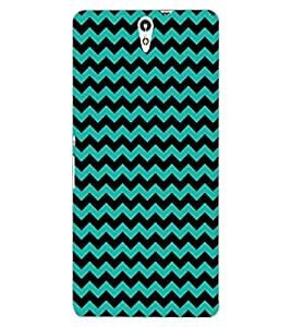 ColourCraft ZigZag Pattern Design Back Case Cover for SONY XPERIA C5 ULTRA DUAL
