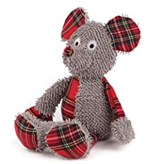 Grriggles Polyester Merry Medleys Dog Toy 12-Inch Mouse