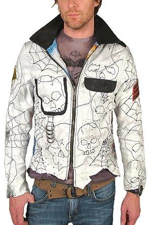 Junker Designs Nikki Sixx Custom Leather Jacket In White At Amazon Men S Clothing Store