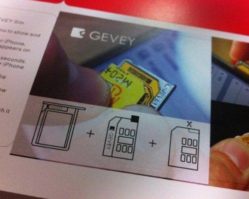 NEW Gevey Turbo Sim For Apple iPhone 4 Unlock iPhone 4 Baseband 2.10.4 and 3.10.01