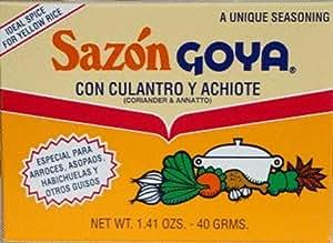 Sazon Goya Culantro and Achiote - 18 Pack
