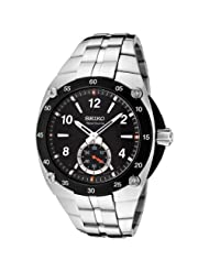 Seiko Men's SRK023 Sportura Black Dial Stainless Steel Watch
