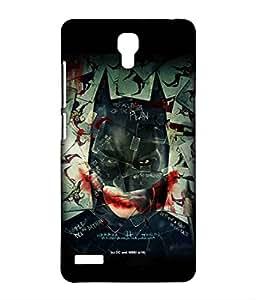 Bat Joker Phone Cover for Xiaomi Redmi note 4G by Block Print Company