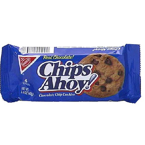 Chips Ahoy! Real Chocolate Chip Cookies, 1.4-Ounce Single-Serve Bags (Pack of 48)