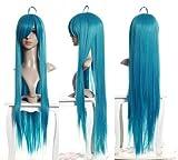 Cosplayland C656 - 100cm glatt voluminös hitzefest endlos Vocaloid glatt Türkis - grün Perücke Wig