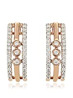 Bentelli Pendientes 9K Gold 0.15Ct Diamonds Oro Rosa