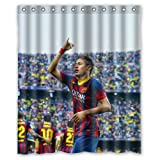 HomeMo Nemar Barcelona Soccer Sports Face Custom Shower Curtain 66