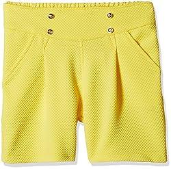 Little Kangaroos Girls' Shorts (Pack of 2) (11564_Yellow_4 year)