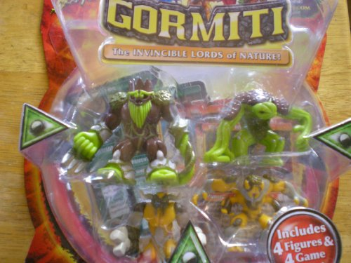 Gormiti the Invincible Lords of Nature 4 Pack (Series 2) Barbatus, Tormentor The Torturer, Bullrock, Dedalus The Undergrounder - 1