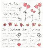 Hobby Design Sticker * Zur Hochzeit II Heirat * Aufkleber 3452370