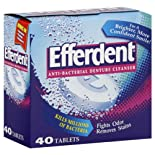 Efferdent Denture Cleanser, Anti-Bacterial, Tablets, 40 ct.