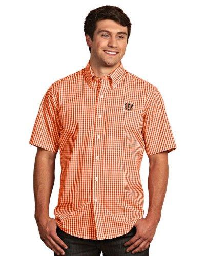 Cincinnati Bengals Scholar Short Sleeve Dress Shirt (Team Color) - Xx-Large