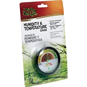 Zilla 11517 Humidity and Temperature Dial Gauge