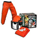 Forester OEM Arborist Forestry Professional Cutter's Combo Kit Chaps Helmet FORCHG (Tamaño: 37