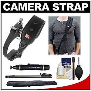 Carry Speed FS-PRO Sling Strap with Foldable Mounting Plate with Monopod + Cleaning & Accessory Kit