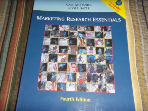 Marketing Research Essentials, Fourth Edition with SPSS 11.0