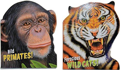 Wild-Cats-Primates-Lizards-Snakes-4-Book-Set