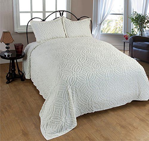 Beatrice Home Fashions Wedding Ring Chenille Bedspread, King