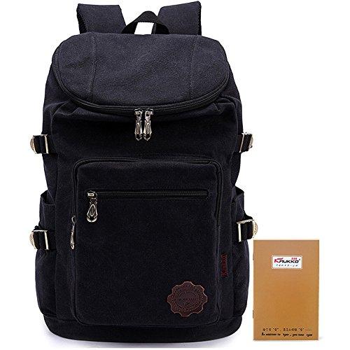 kaukko-starkes-segeltuch-rucksack-outdoor-travel-camping-hiking-ttrekking-schulrucksacke-schwarz