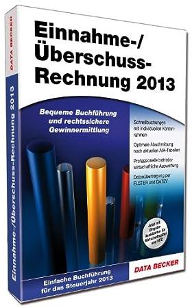 Einnahme-/Überschussrechnung 2013