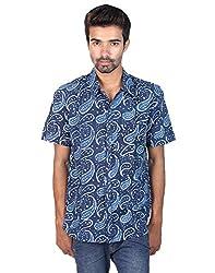 Rajrang Mens Cotton Shirt -Indigo -X-Large