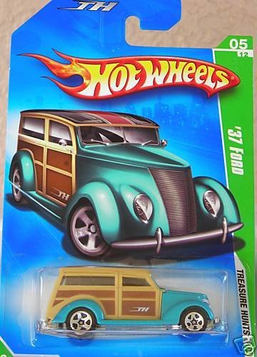 Hot Wheels 2009 Treasure Hunt '37 Ford 1:64 Scale - 1