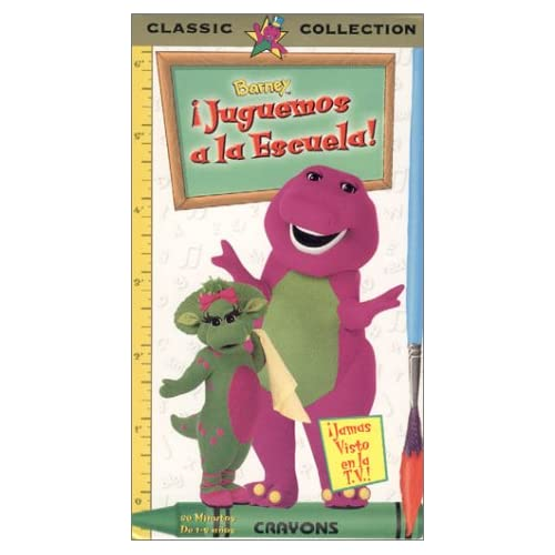Barney Lets Play School (Spanish Edition) [VHS]