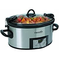 Crock-Pot 6-Quart Programmable Cook and Carry Slow Cooker (Stainless Steel)