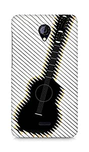 Amez designer printed 3d premium high quality back case cover for Micromax Unite 2 A106 (Guitar art abstraction pencils)