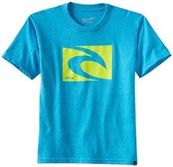 Rip Curl Big Boys' Aggrolite Icon Slim Short Sleeve Tee, Blue, Small
