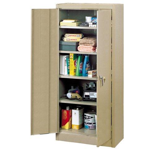 Edsal 6600TN Tan Steel Storage Cabinet, 4 Adjustable Shelves, 66