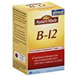 Nature Made B-12, Maximum Strength, 5,000 mcg, Softgels 60 ct