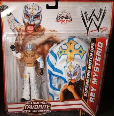 WRESTLING Mattel WWE Wrestling Exclusive Superstar MatchUps Action Figure Mask Rey Mysterio White Pants Mask at Sears.com