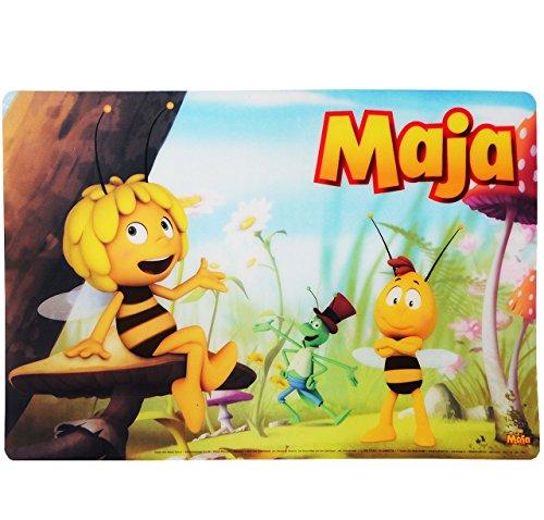 """Unterlage - """" die kleine Biene Maja """" - 40 cm * 29 cm - Tischunterlage / Platzdeckchen / Malunterlage / Knetunterlage / Eßunterlage - Willi & Flip - für Kinder Jungen Mädchen / kleine Schreibunterlage"""