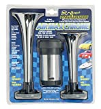 Wolo Model  403 Air Max Chrome Plastic Dual Trumpet Air Horn Kit - 12 Volt