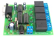 4 Relay On Off Remote Control via RS232 COM port 12VDC Circuit Kit (SC400) - Free Shipping Register Airmail