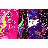 My Little Pony Friendship Is Magic 4 Folder Set ~ Fluttershy On Pink, Rainbow Dash On Black, Rarity,