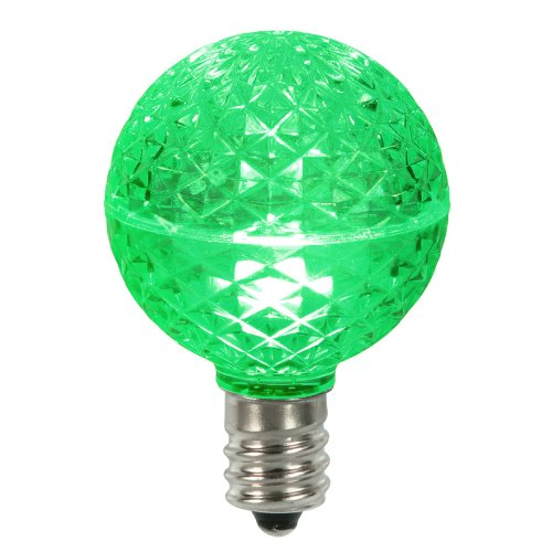 club pack of 25 led g50 green replacement christmas light. Black Bedroom Furniture Sets. Home Design Ideas