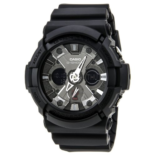 Casio Men's GA201-1 G-Shock Shock Resistant Black Resin Analog Sport Watch