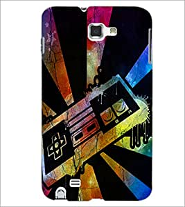 PrintDhaba Abstract Image D-4351 Back Case Cover for SAMSUNG GALAXY NOTE 1 (Multi-Coloured)