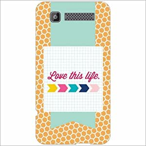 Intex Cloud Y11 Back Cover - Silicon Love This Life Designer Cases